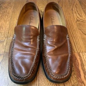 Cole Haan Dempsey NikeAir Brown Leather Loafers